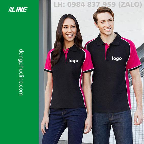 Áo đen pha hồng sen (black and pink)