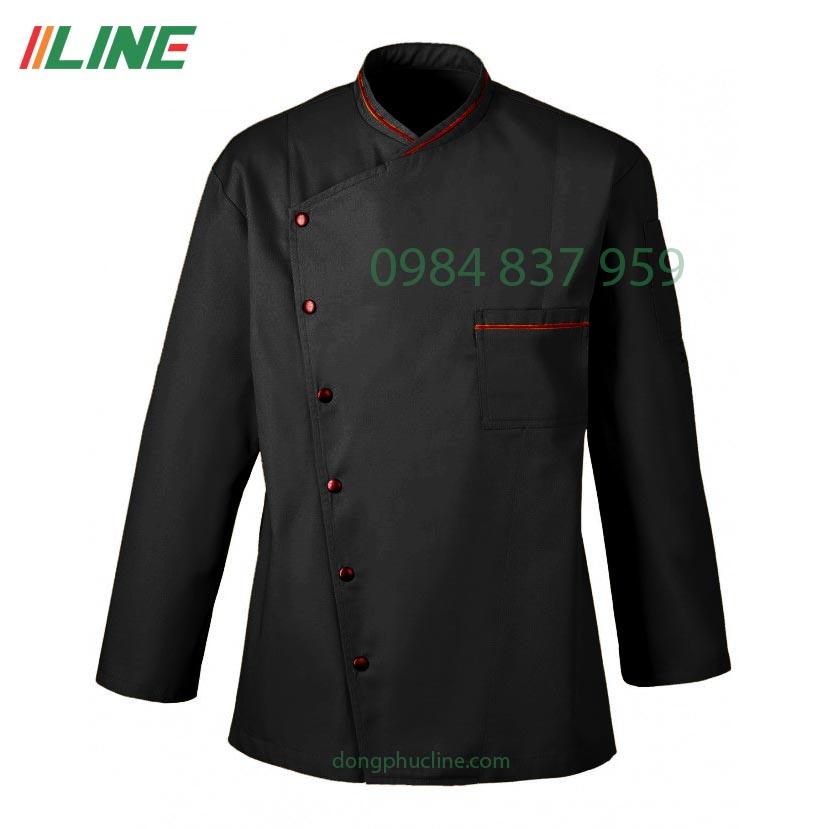 áo bếp đen phối đỏ đặc biệt