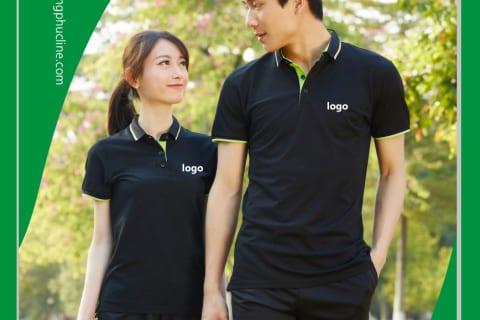 Áo đen phối xanh chuối (black and green yellow)