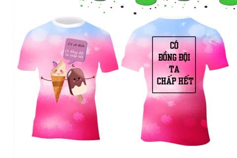 Áo 3D cho team hồng ngọt ngào