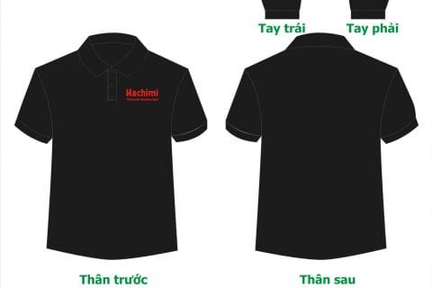 Áo phông nhà hàng Hachimi